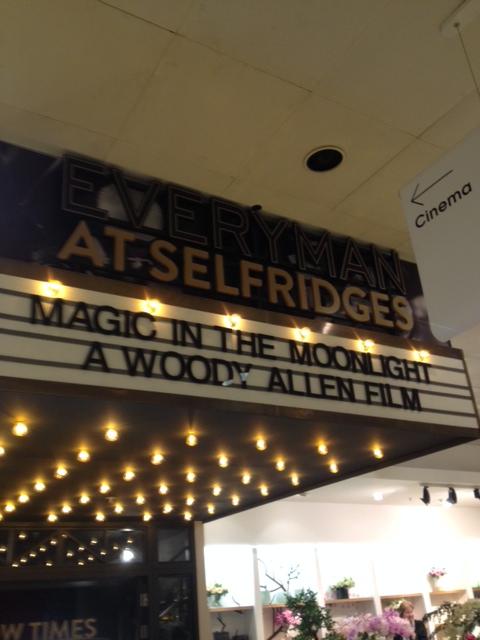 salon de cinéma chez SELFRIDGES